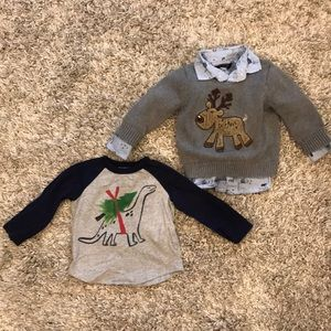 Christmas 12-18 mo boy bundle (3 items) 🎄🎅🏼